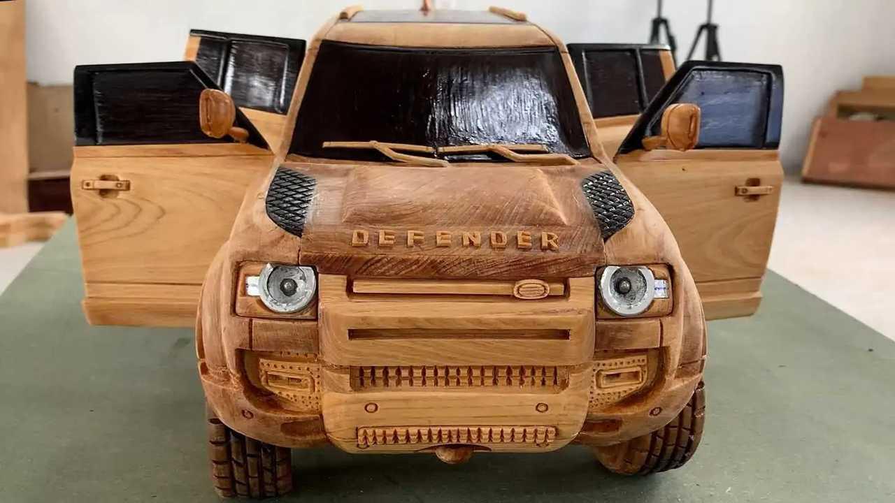 Land Rover Defender Wood Art