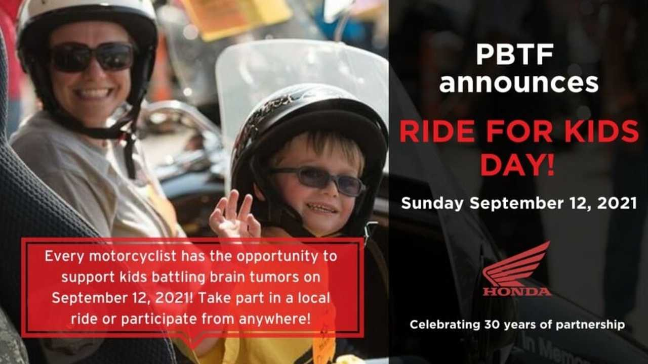 Ride For A Cause This September In 2021 Honda Ride For Kids