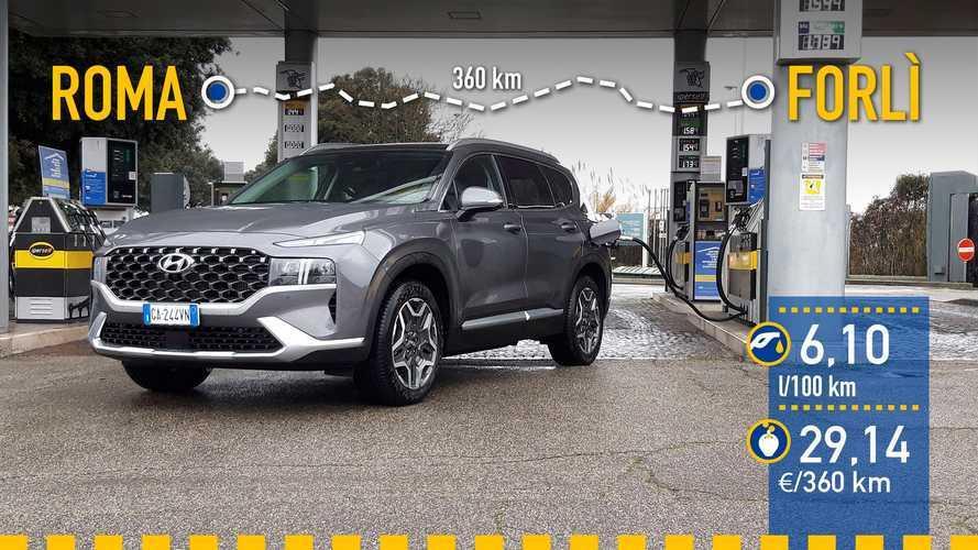 Hyundai Santa Fe Híbrido 2021: prueba de consumo real
