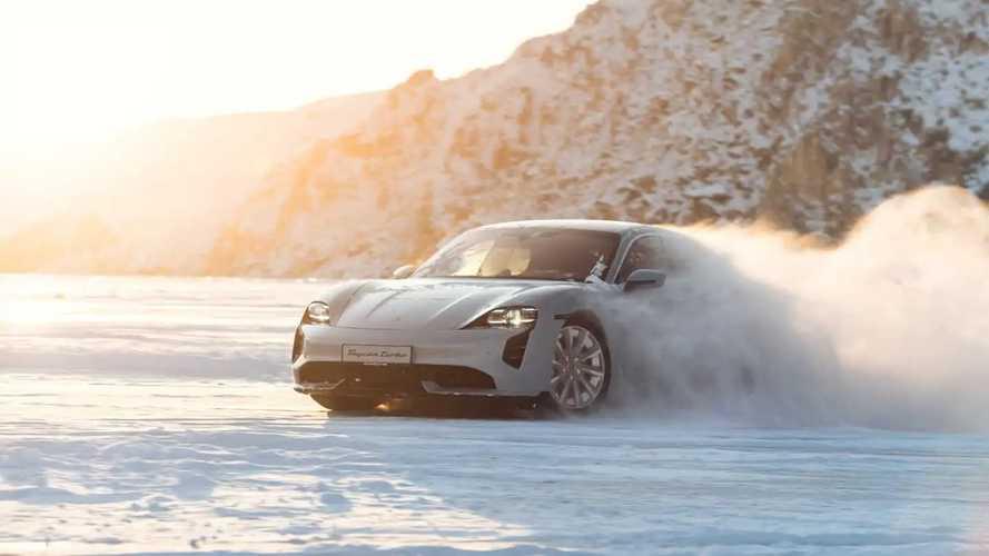 Porsche Taycan на Байкале