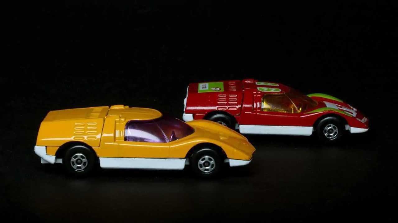 Der Mazda RX-500 von 1970 als Spielzeugauto von Matchbox