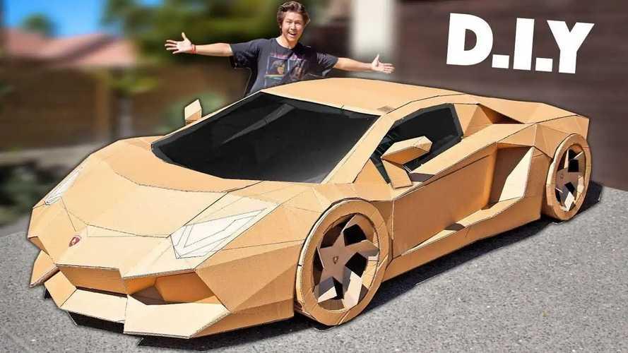 Lamborghini Aventador из картона продали за 765 000 рублей
