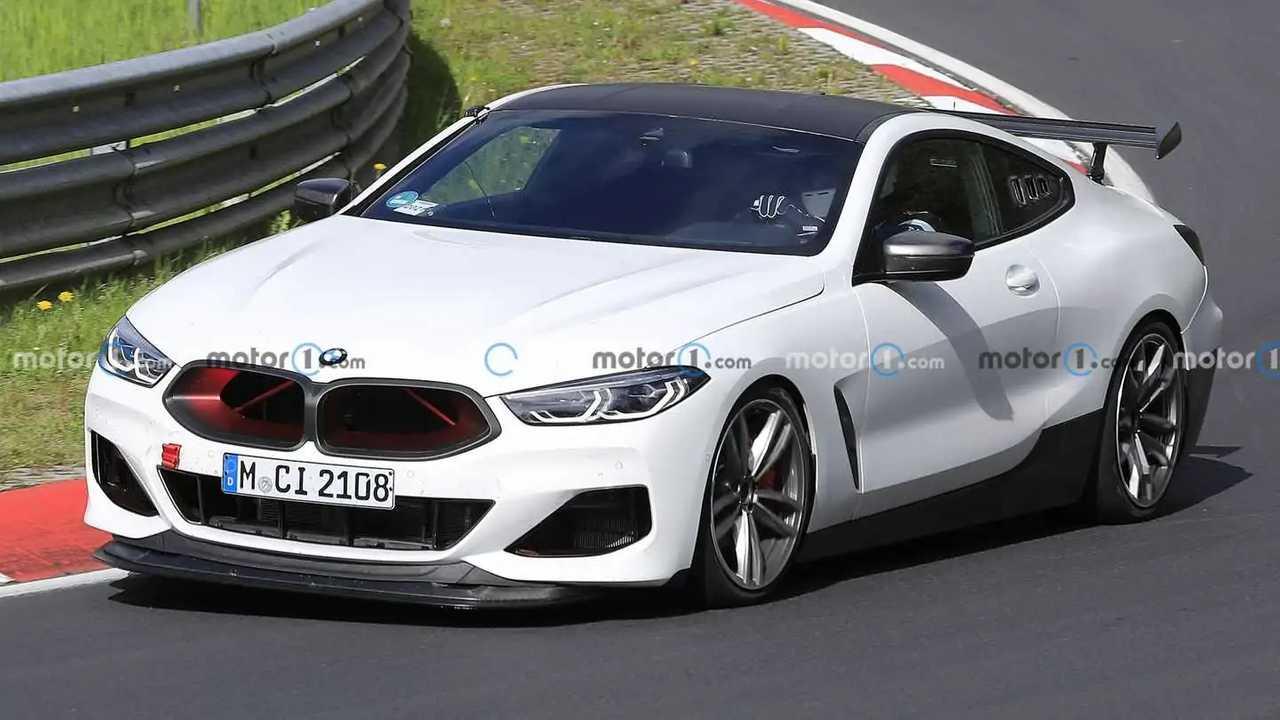 Шпионские снимки BMW M8 CSL