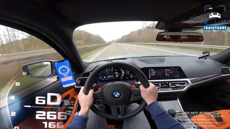 Vidéo - La BMW M3 Compétition poussée à sa vitesse maximale