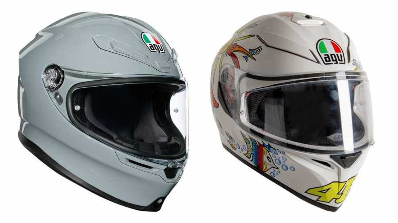 AGV K6 Nardo Grey and K3 SV-S White Zoo Helmets - Main