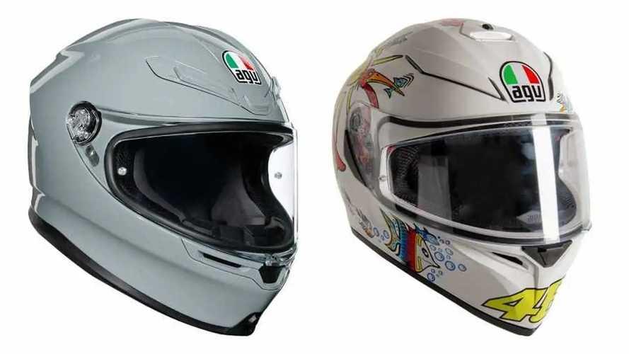 AGV Releases K6 Nardo Grey Helmet and K3 SV-S Rossi Replica