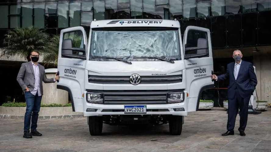 VW e-Delivery: 1ª unidade do caminhão elétrico é entregue à Ambev