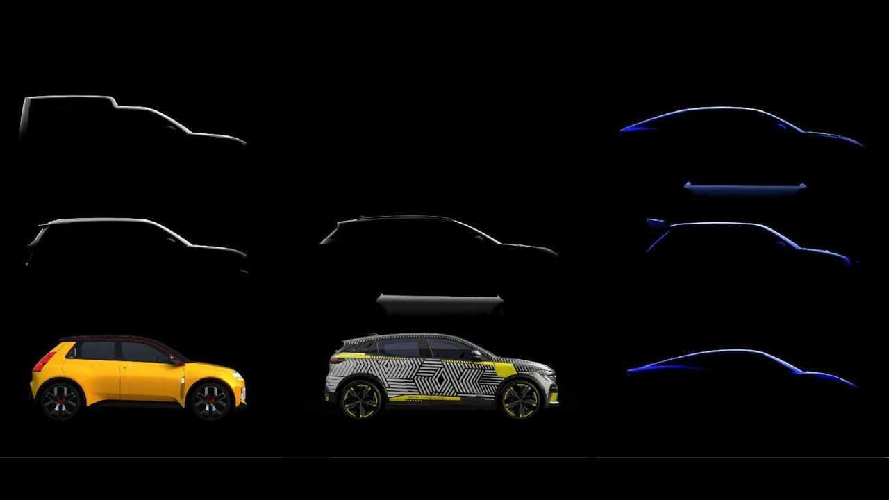 Renault zeigt Silhouetten der künftigen E-Autos - auch von Alpine