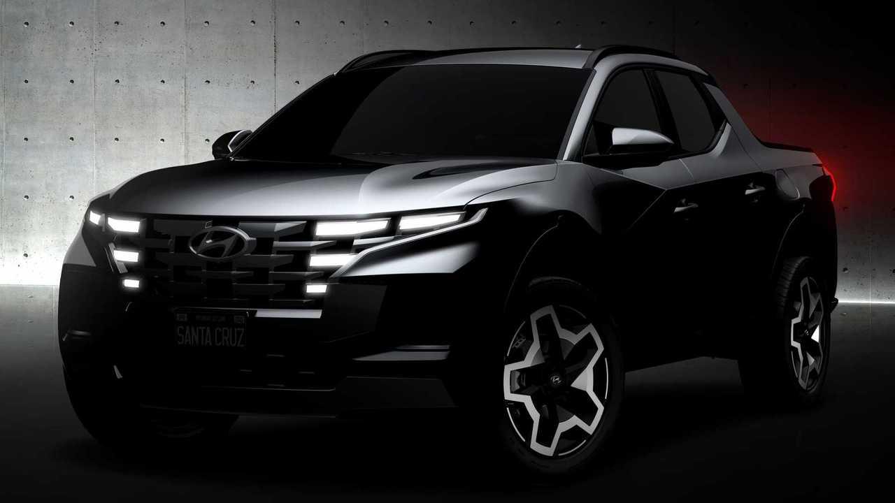 Das erste offizielle Teaserbild des neuen Hyundai-Pickups Santa Cruz