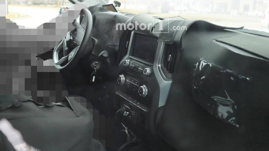 2018 GMC Sierra Interior Spy Shots