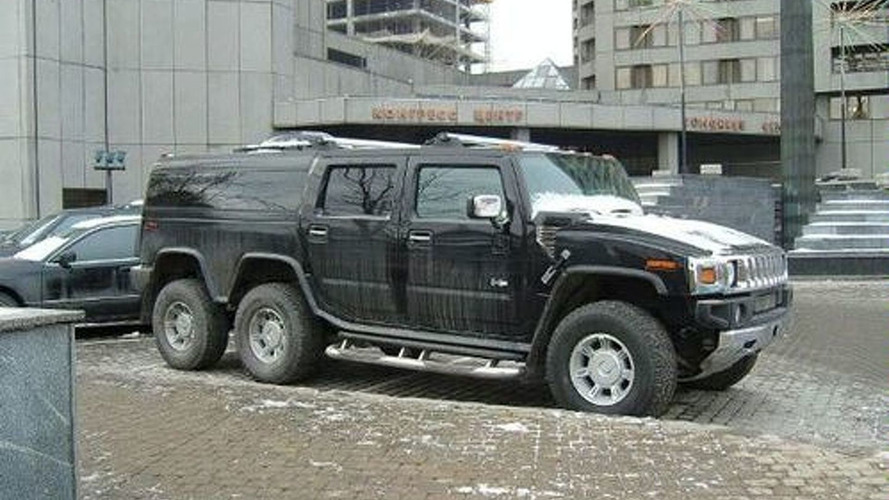 Six-Wheeled Stretch Hummer