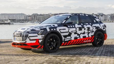 La carica delle 12 Audi elettriche (e-tron)