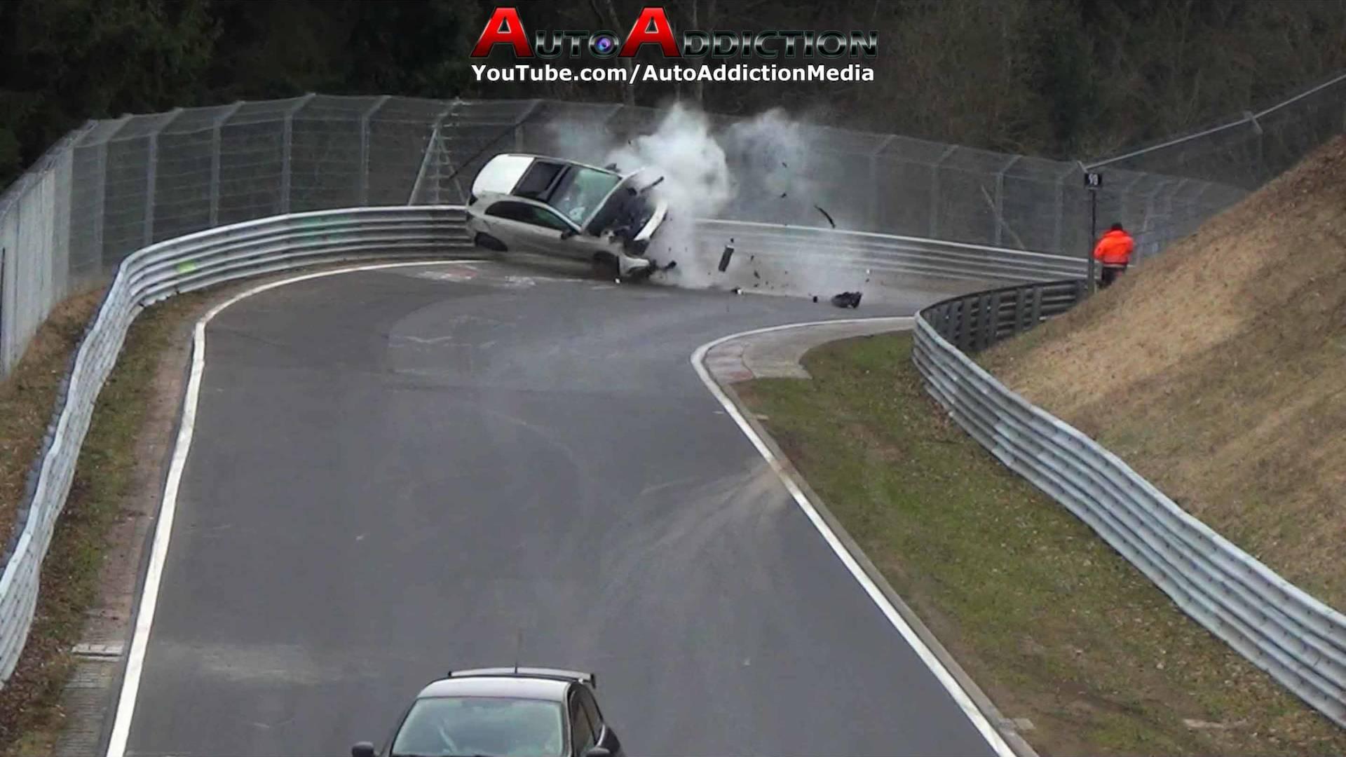 Mercedes A-Class Occupants Walk Away After Terrifying 'Ring Crash