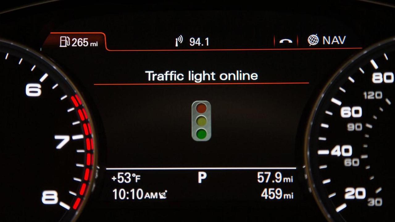 Audi Online traffic light information