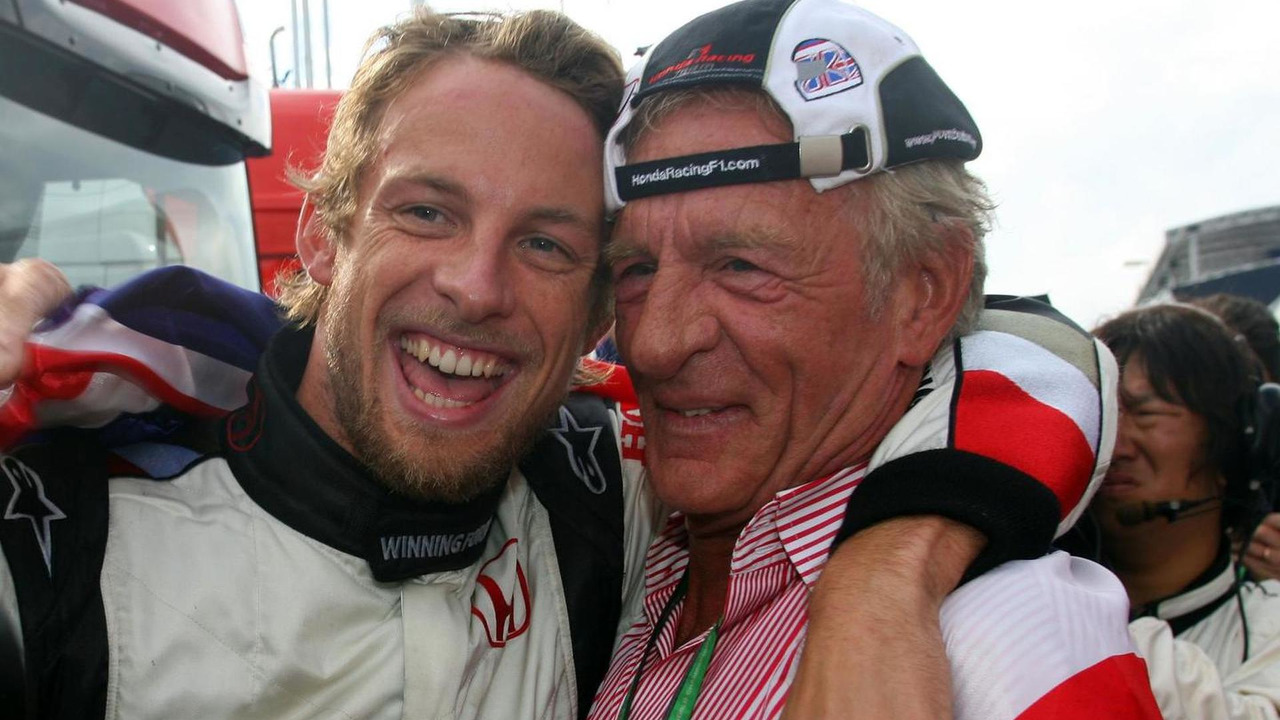 Jenson Button with his father John 06.08.2006 Hungarian Grand Prix