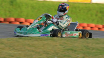 Sebastian Vettel driving Tony Kart EVK-RKF chassis at circuit of Ampfing Germany
