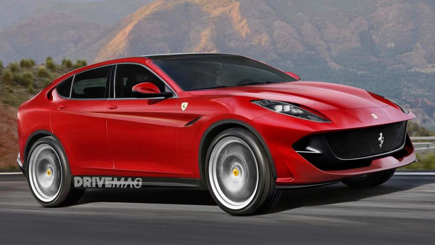 Itt az eddigi legjobb renderkép a Ferrari SUV-járól