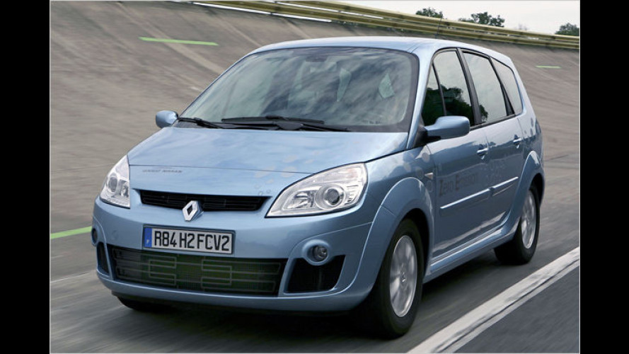 Renault-Nissan: Studie Scénic ZEV H2 mit Brennstoffzelle