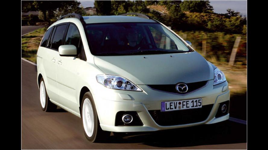 Neue Sonderkonditionen für Mazda 5 und Mazda 6 mit Diesel