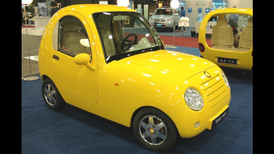 Gelb und kugelig: Automobile Kuriositäten aus Fernost