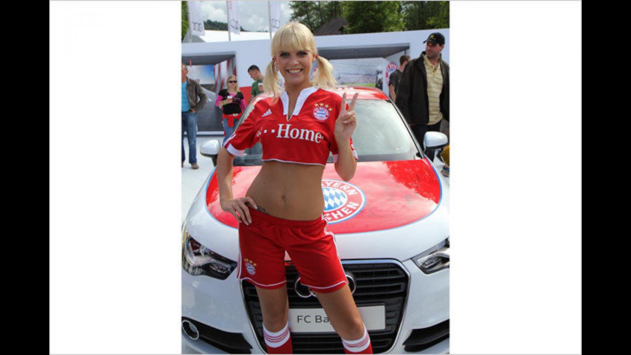 Um schön schlank zu sein, treibt Heidi neben Fußball auch noch andere Sportarten