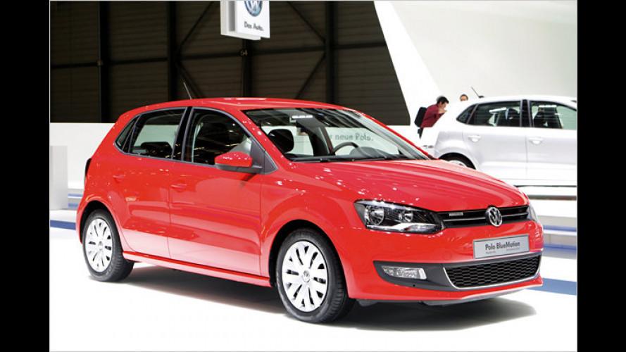 Die blaue Flotte von Volkswagen