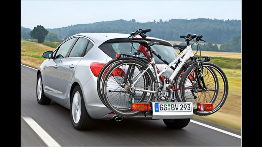 Opel FlexFix-System: Schubladen-Fahrradträger auch für den Astra (2009)