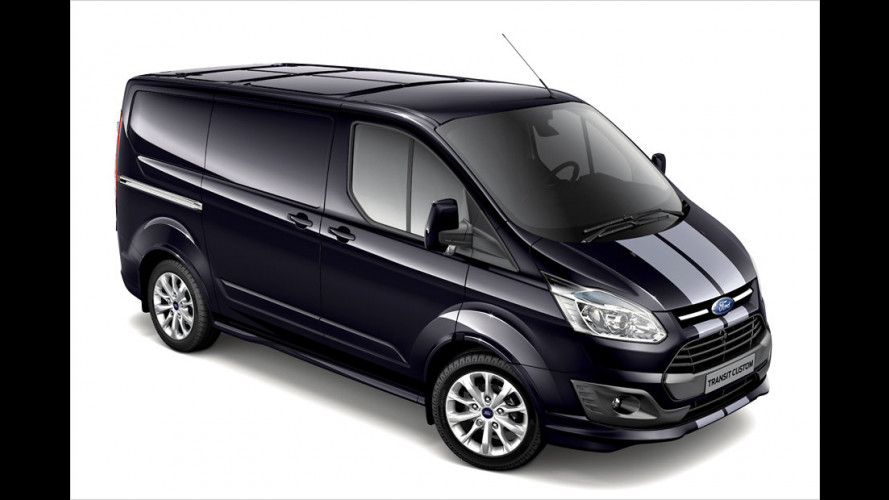 Ford Transit Custom: Ab Januar 2013 in Sportversion mit Streifen