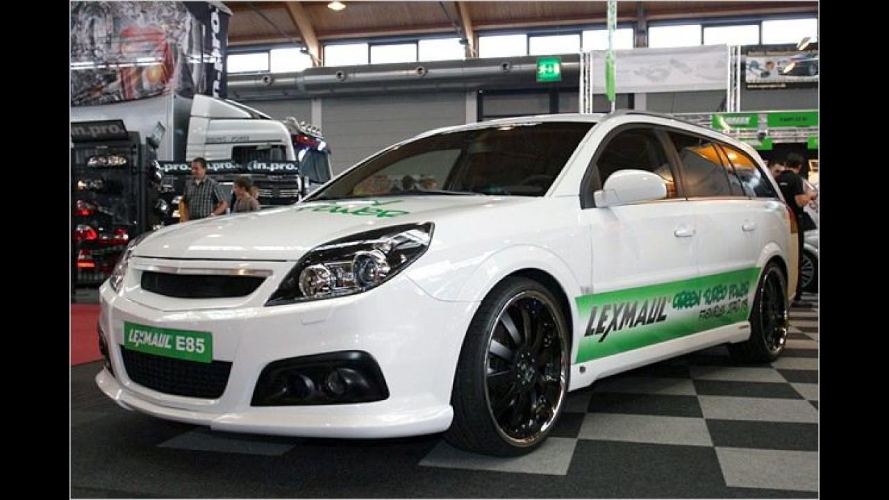 E85 macht's möglich: Der 175 PS starke Opel Vectra Caravan 2.0 Turbo kann von Lexmaul auf bis zu 270 PS getunt werden