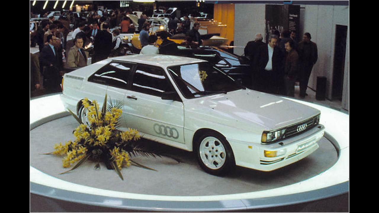 Walther Röhrl raste 1987 mit ihm beim Pikes Peak International Hill Climb zum Sieg, 1980 stand er schon in der Schweiz: Der Audi quattro