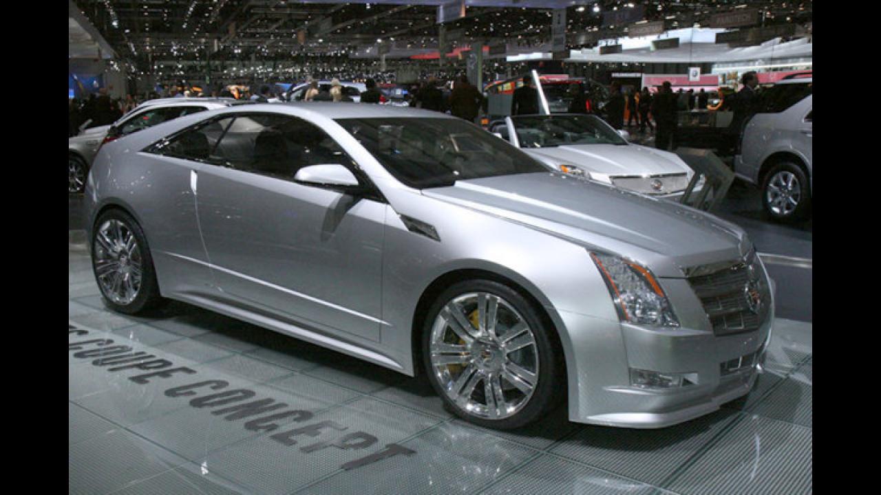 CTS Coupé Concept: Die zweite Europapremiere von Cadillac ist ein waschechtes Coupé, hat also nur zwei Türen und verzichtet auf die B-Säule