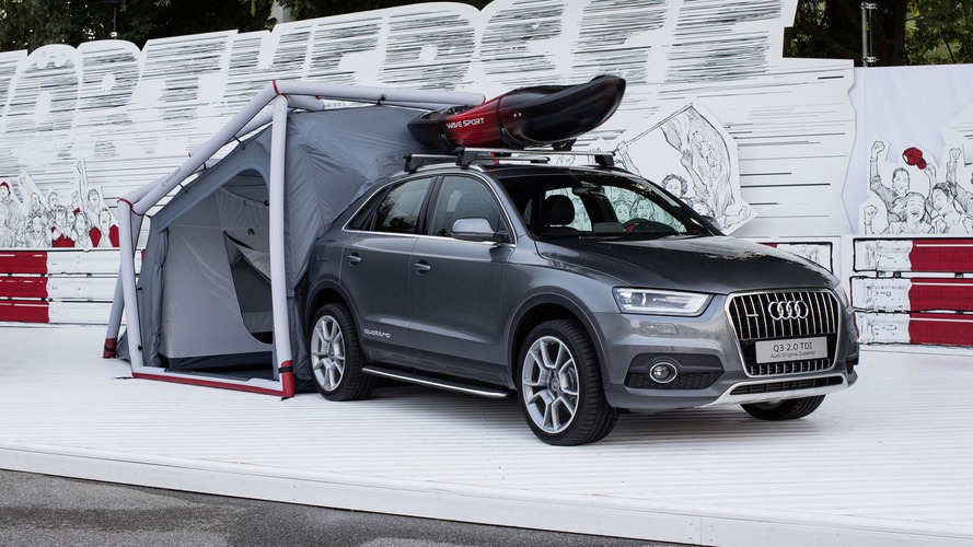 Audi Q3 Camping Tent unveiled at Worthersee 2014