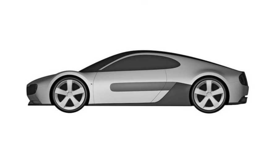 Honda E electric sports car patent illustrations