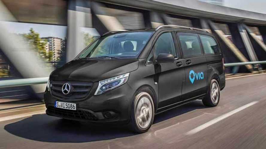 Mercedes-Benz Vans e Via insieme per il ride-sharing