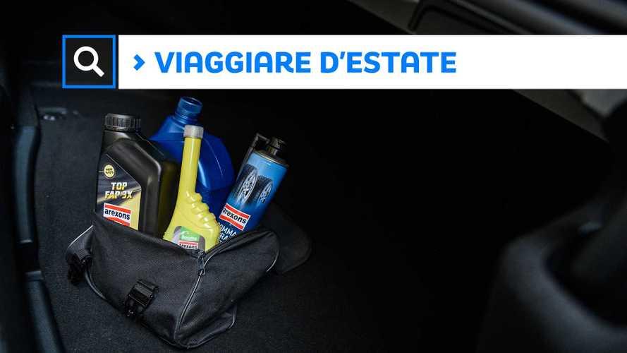 Estate, il kit per viaggiare sicuri in auto
