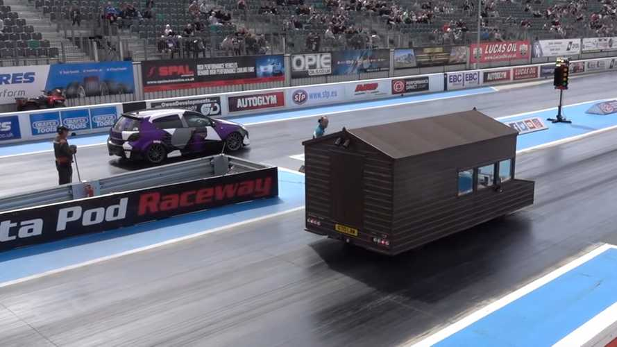 World's fastest shed hits Santa Pod with Audi RS4 engine