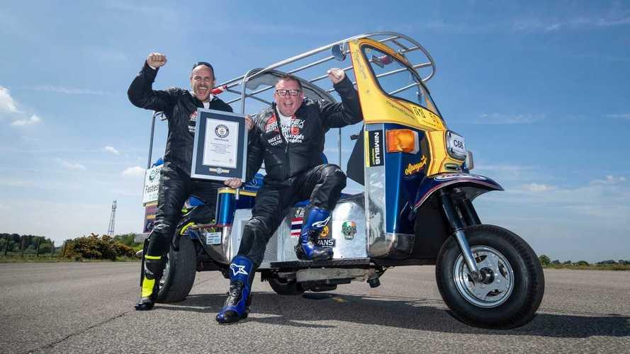120 км/ч: новый мировой рекорд скорости на тук-туке
