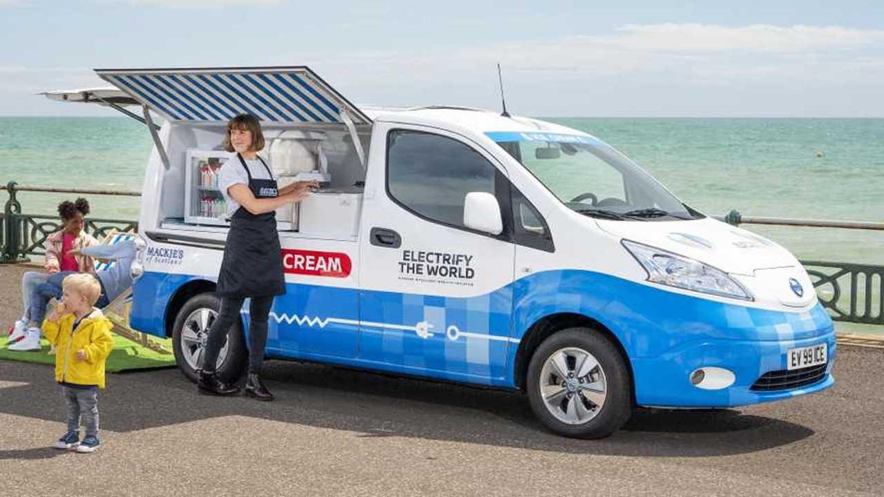 electric ice cream van that tweets