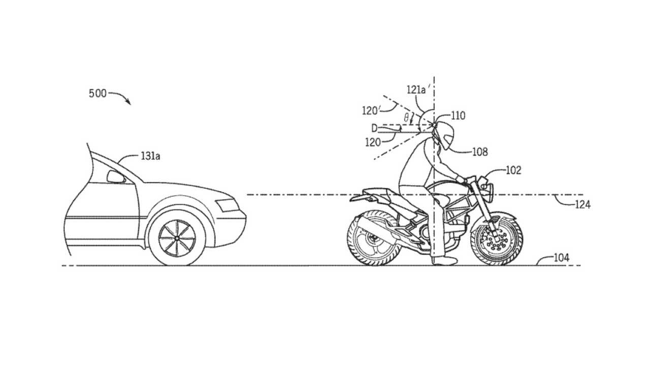 Honda Helmet Radar Patent 2