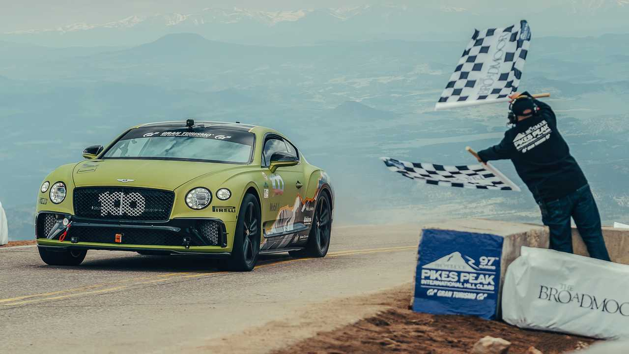 Bentley Continental GT Pikes Peak record lead image