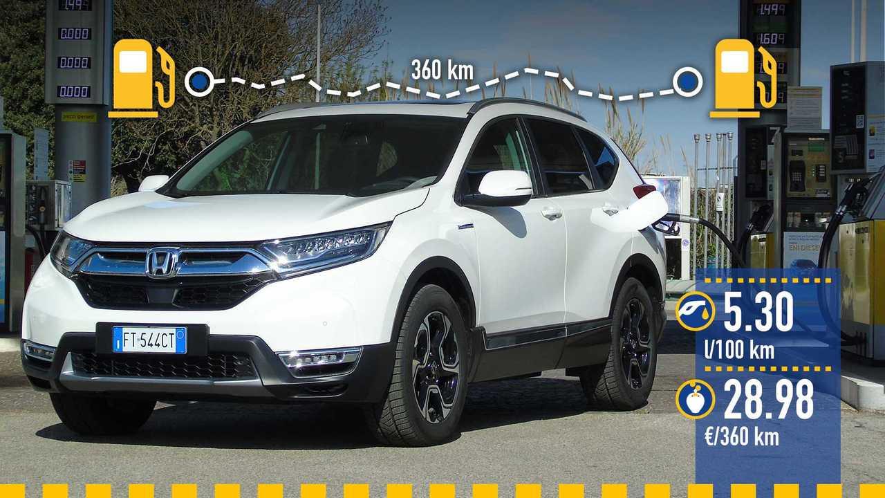 Honda CR-V Hybrid, la prova consumi