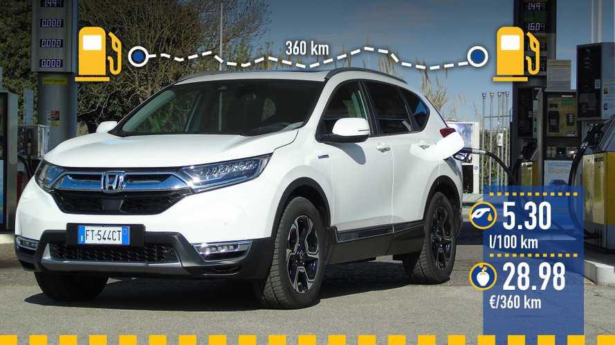 Honda CR-V Hybrid, la prova dei consumi reali