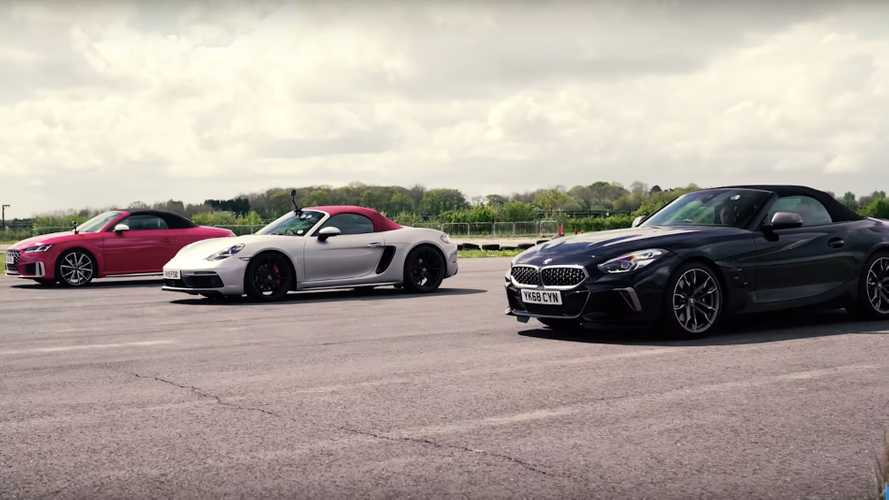 Roadster drag race: BMW Z4 vs. Porsche Boxster GTS vs. Audi TTS