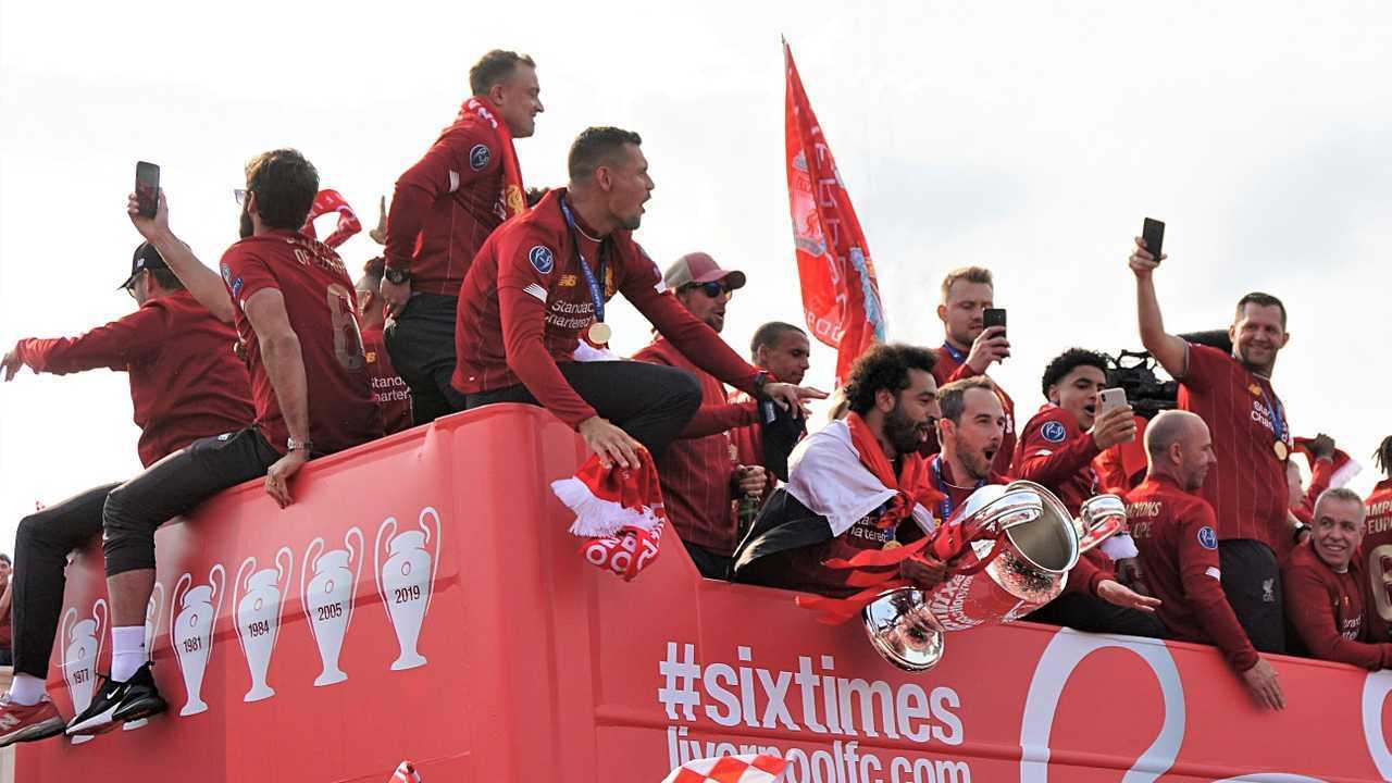 Liverpool FC celebration winning the Champions League 2019
