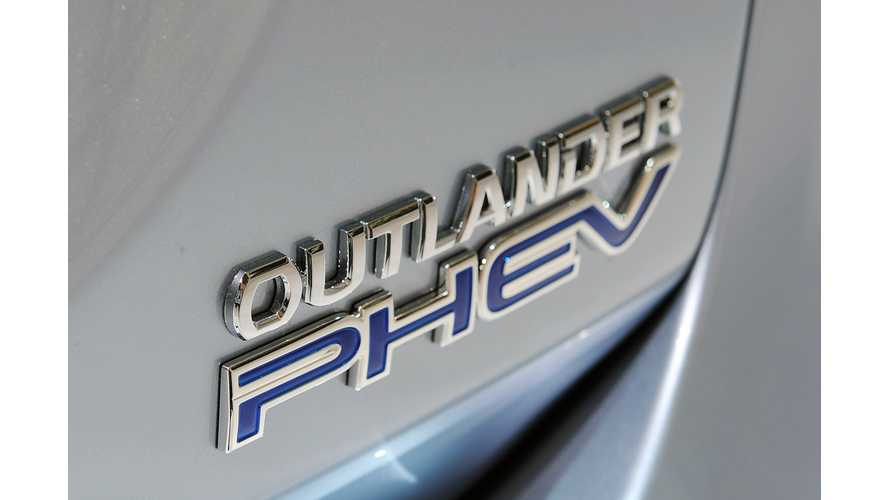 Mitsubishi Outlander PHEV Qualifies for UK's £5,000 Plug In Car Grant