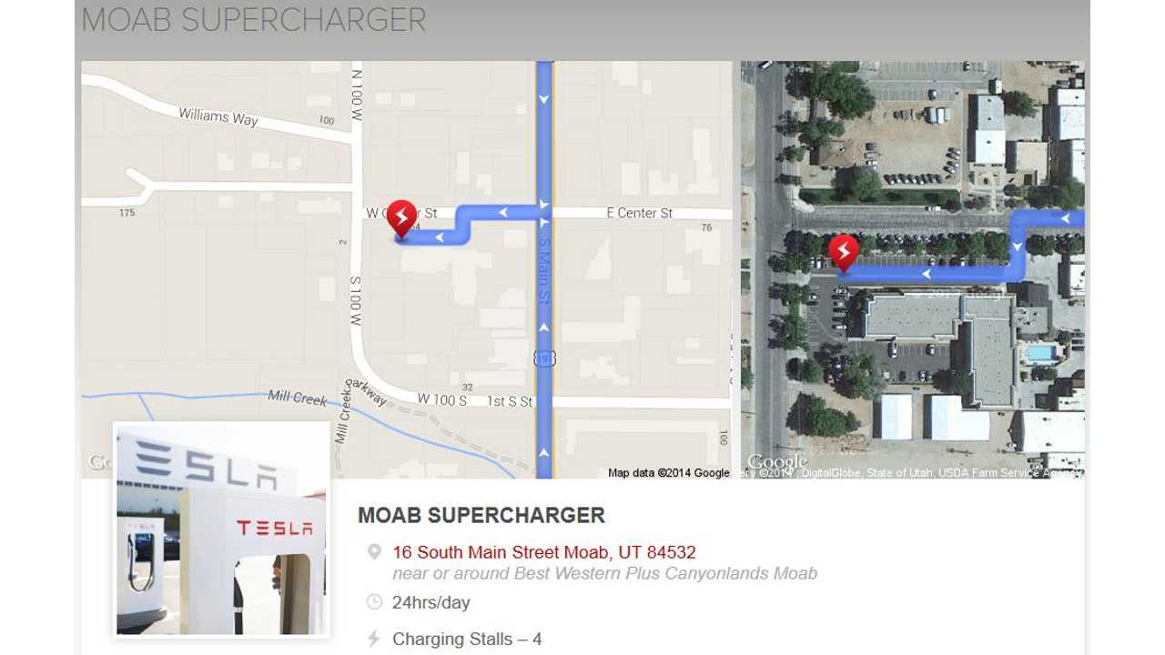 Tesla Charges Up Moab, Utah Supercharger