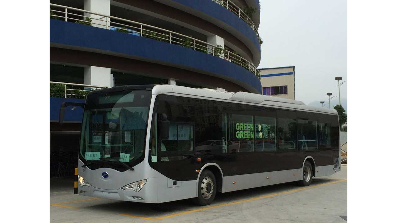 Dalian, China Places Order For 1,200 BYD Electric Buses
