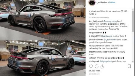 2020 Porsche 911 Turbo spied completely uncovered at factory
