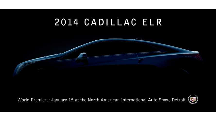 Cadillac Announces It Will Officially Unveil the ELR On January 15th In Detroit