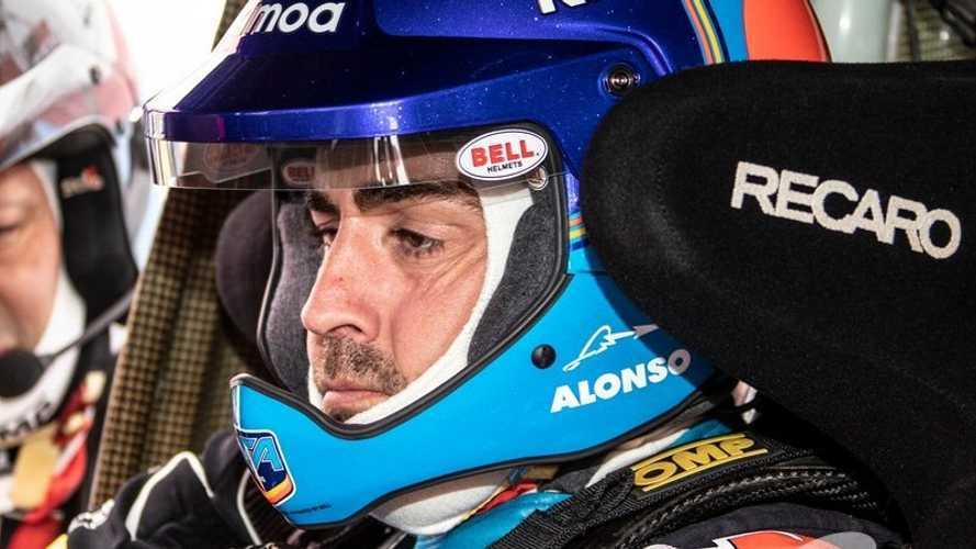 """Alonso, tras probar el Toyota del Dakar: """"El coche acepta una cantidad de maltrato importante"""""""